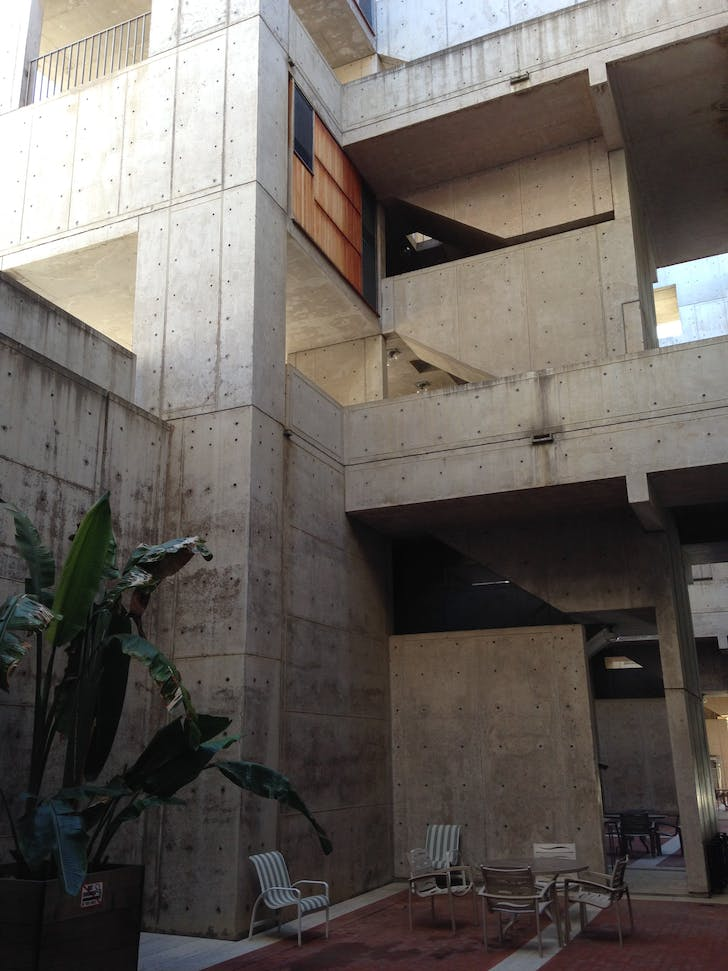 The Salk Institute, photo credit Amelia Taylor-Hochberg.
