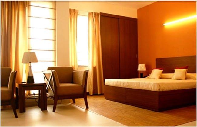 An abundance of natural light fills the Golden Estate living units.