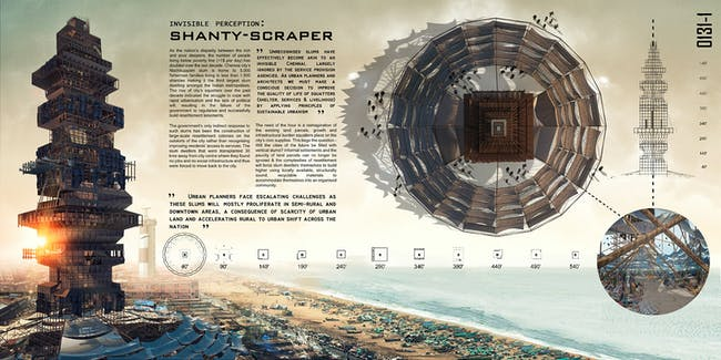 2015 2nd prize - 'Shanty-Scaper' by Suraksha Bhatla and Sharan Sundar | India