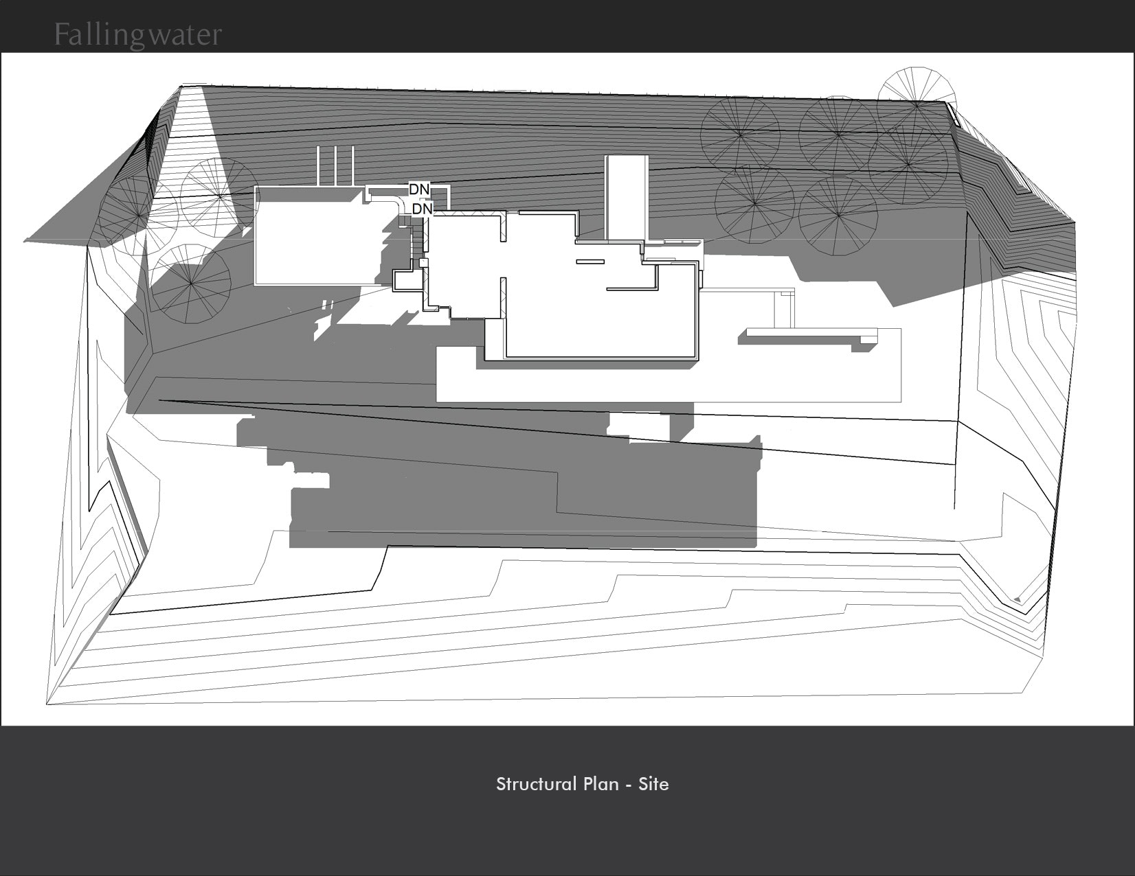 Falling water house animation pictures