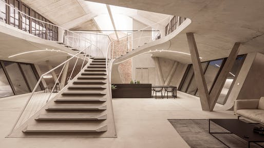 "Finalist in ""Interiors – Residential:"" Loft Panzerhalle in Salzberg, Germany, by Smartvoll Architekten."