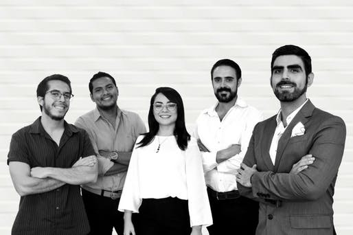 Patricio Cabal's team; from Left to right: Architects Carlos Enmanuel, Edison Rosero, Andrea Balcazar, Andrés Martínez, Patricio Cabal