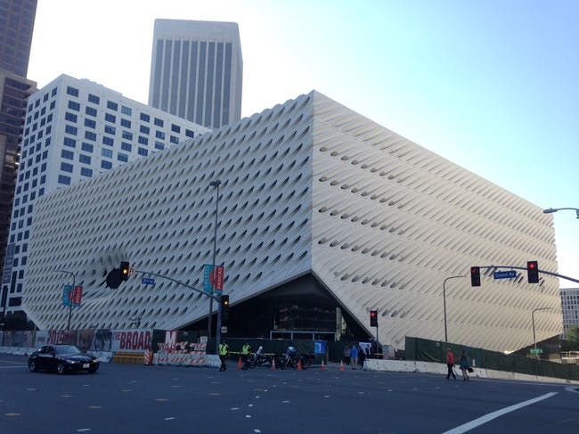 The Broad Museum's unsuccessful hole.