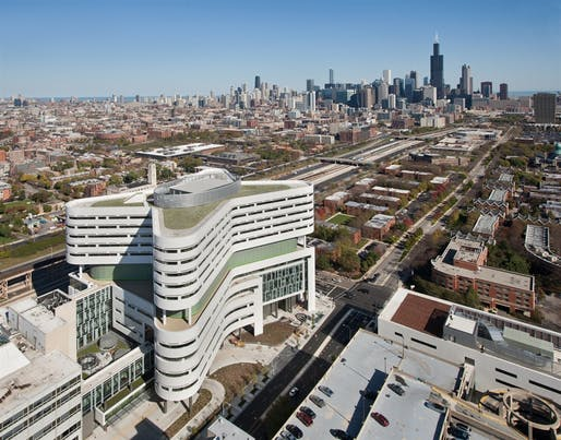 Distinguished Building Honor Award: Rush University Medical Center New Hospital Tower in Chicago, Illinois by Perkins+Will. Photo: Connor Steinkamp, Steinkamp Photography.