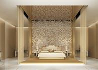 Refined Monochromatic Bedroom Design