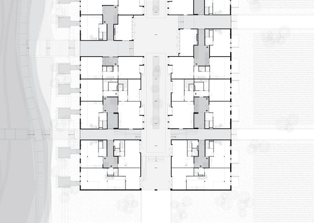 The Gamechanging architect, re-used carpentry shed - ground floor plan view