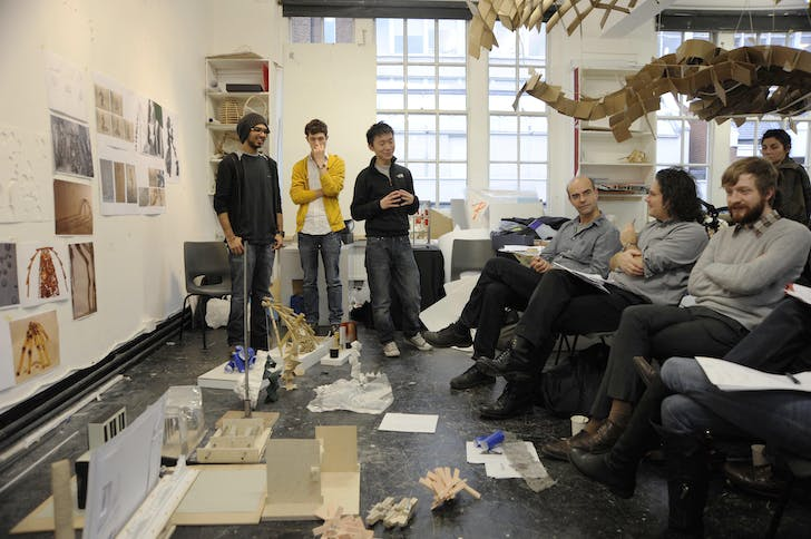 Studio crit. Image: Architectural Association School of Architecture.