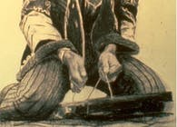 1996-Drawing - The Guitarist Jimi Hendrix