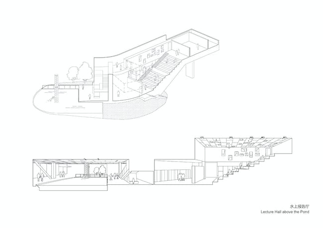 Lecture hall. Image courtesy of OPEN Architecture