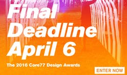 Act Fast - Only One Week Left to Enter the 2016 Core77 Design Awards