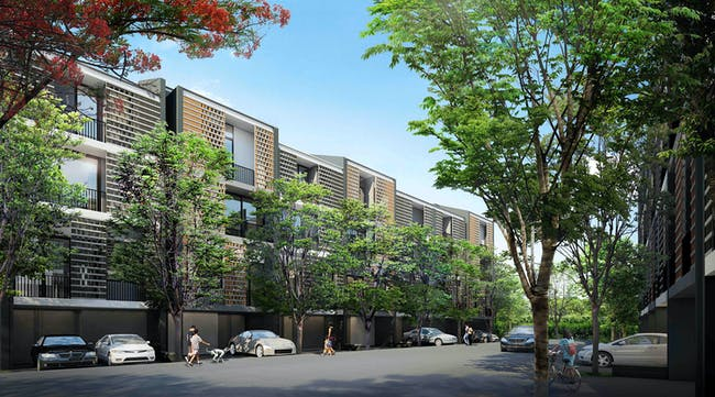 Future projects residential winner: Siamese Blossom, Thailand by Somdoon Architects. Image courtesy of WAF.