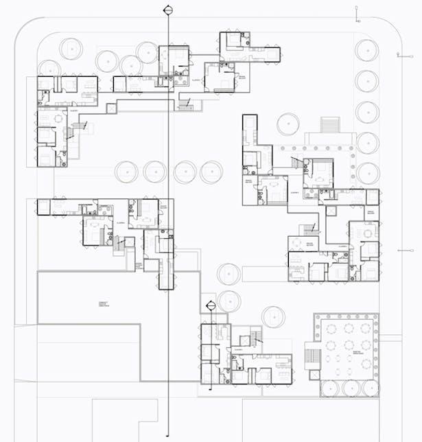 Floor Plan Level 2, (Typ. for 4 & 6)