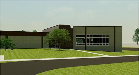 media center addition to an elementary school