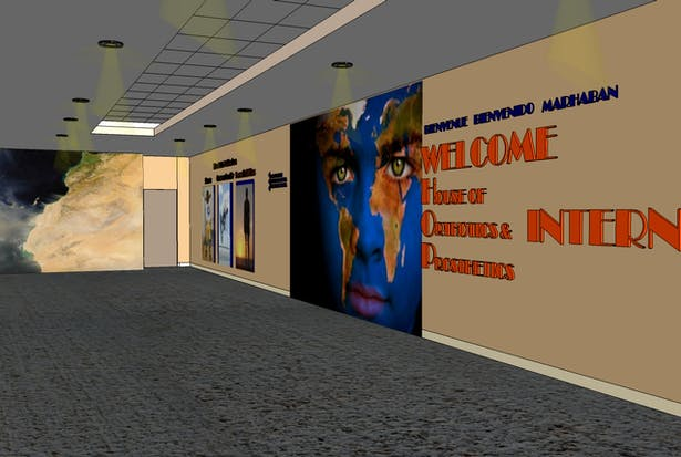 Foyer looking towards reception