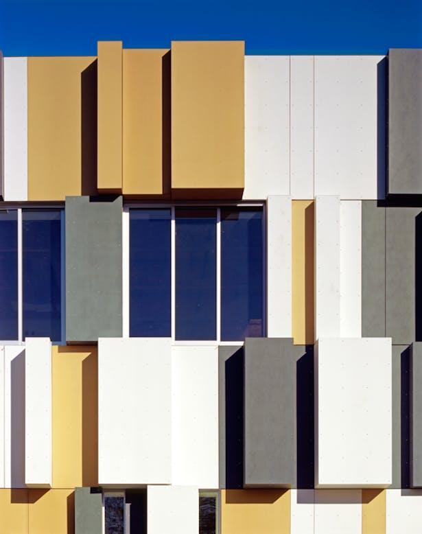 Facade Detail of Metal Panels