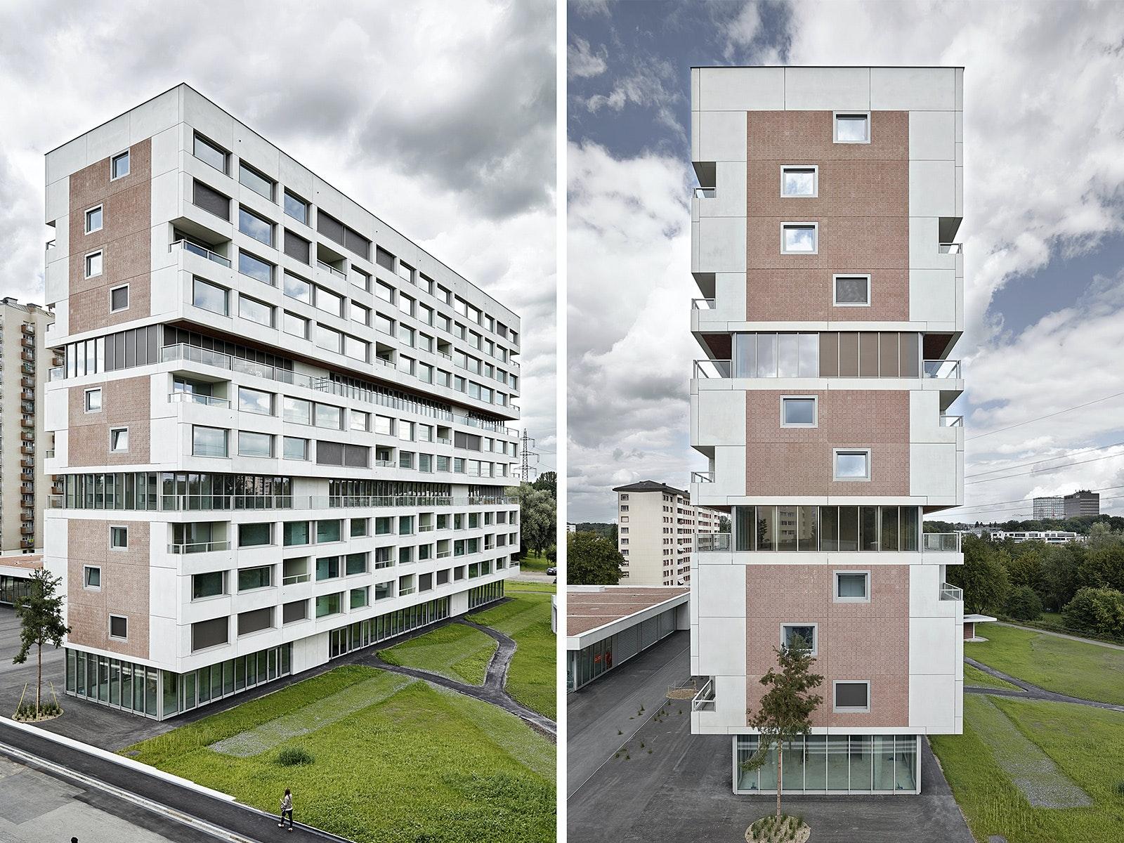 Architect: Boltshauser Architekten AG. Location: Zürich, Switzerland.  Photo: Kuster Frey Fotografie.