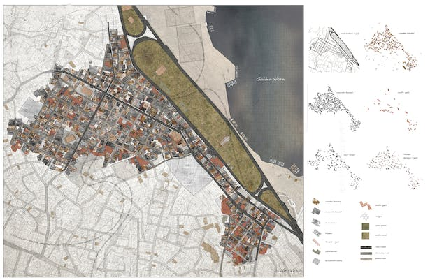 materiality map of fener_layers and unused spaces