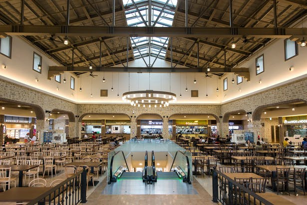 Interior food court.
