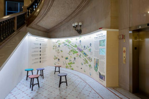 Studio Gang's Polis Station at the Chicago Architecture Biennial. Photo: Chicago Architecture Biennial/Nathan Keay.