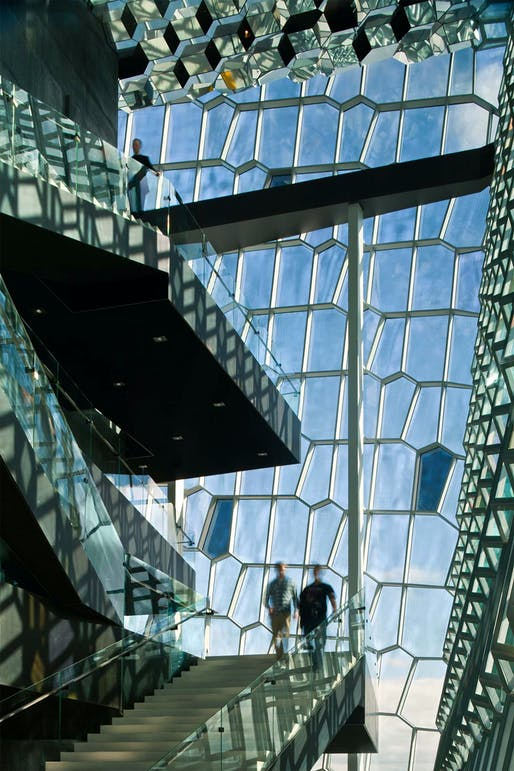 Certainly not trash: one of Eliasson's most iconic ventures into the architectural realm is his facade for the Harpa Reykjavik Concert Hall designed by fellow Danes, Henning Larsen Architects. (Image via henninglarsen.com)