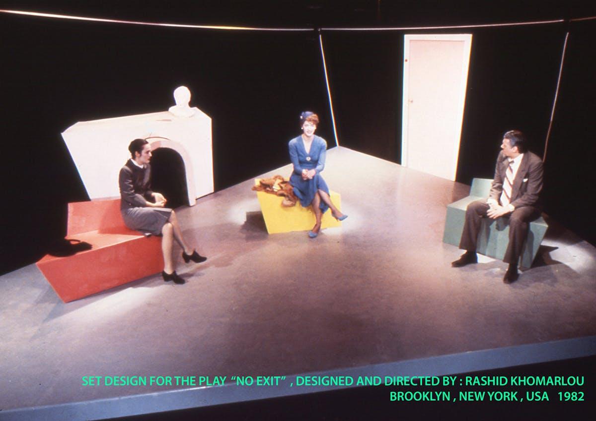 Set Design For The Play Quot No Exit Quot Rashid Khomarlou