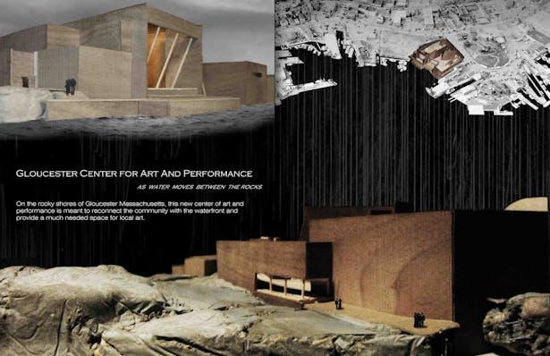 Concrete – Black Walnut – Basswood Model + Photoshop