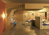 Staff lounge at Alameda County Community Food Bank
