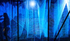 George King installs glowing string maze in former train underpass for Detroit Design Festival