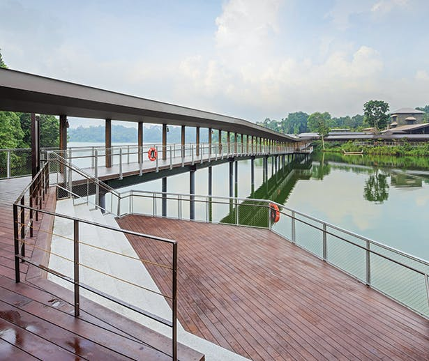 The 165m-long bridge over Upper Seletar Reservoir
