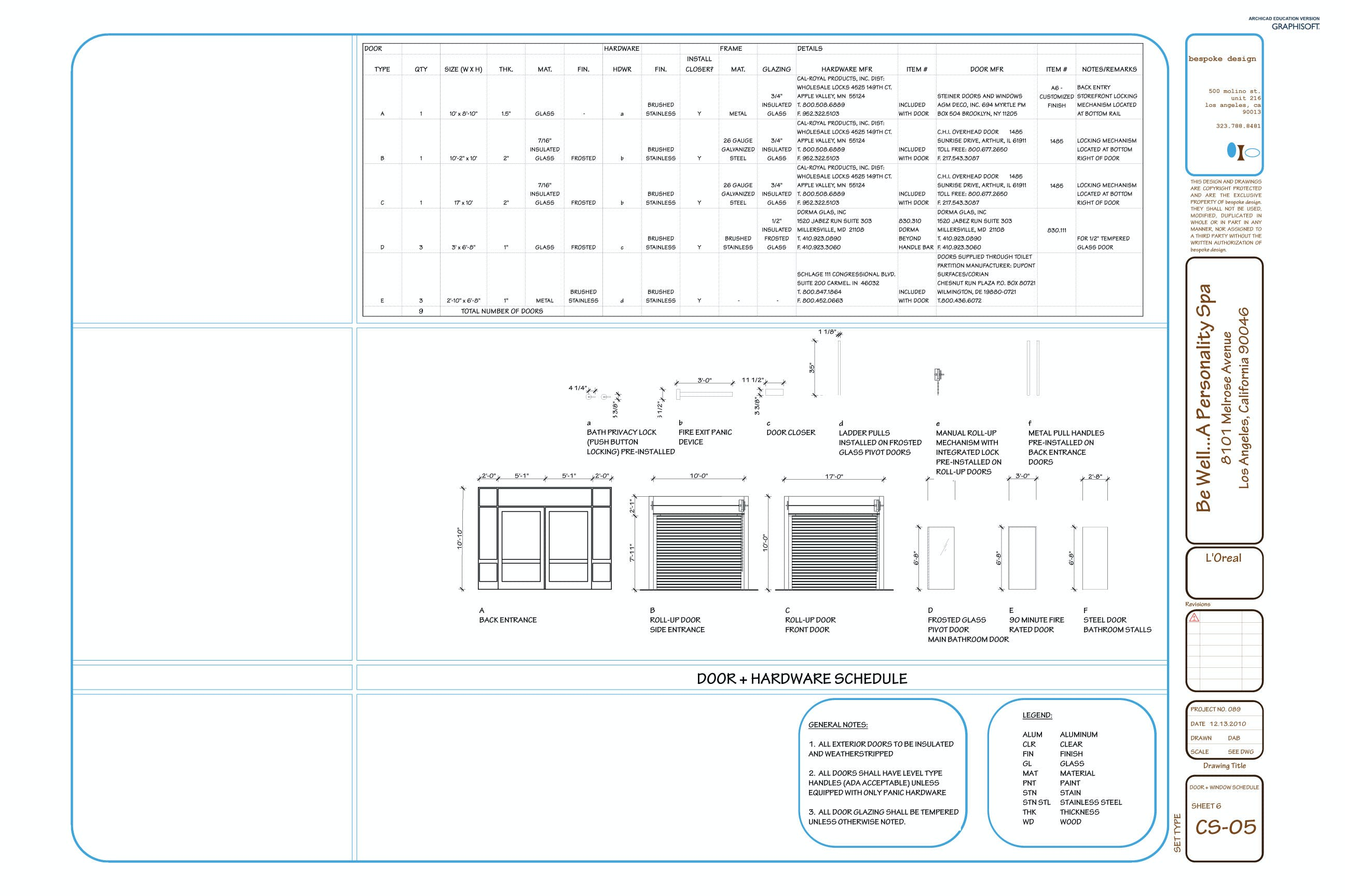 Be well construction documents darra bishop archinect for Window and door schedule template