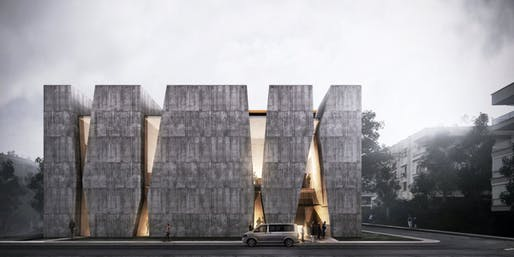 Parkopera front rendering, by Salon Architects. Image: Salon.