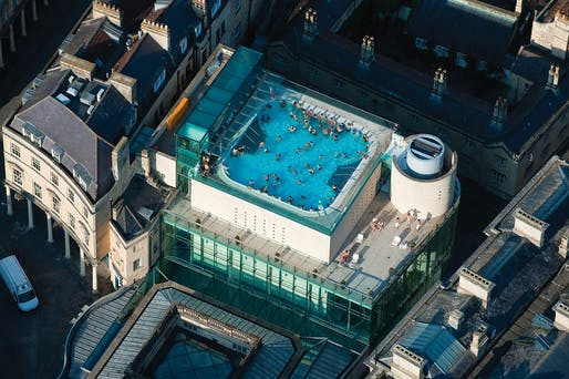 Thermae Bath Spa by Nicholas Grimshaw. Photo by Jason Hawkes.