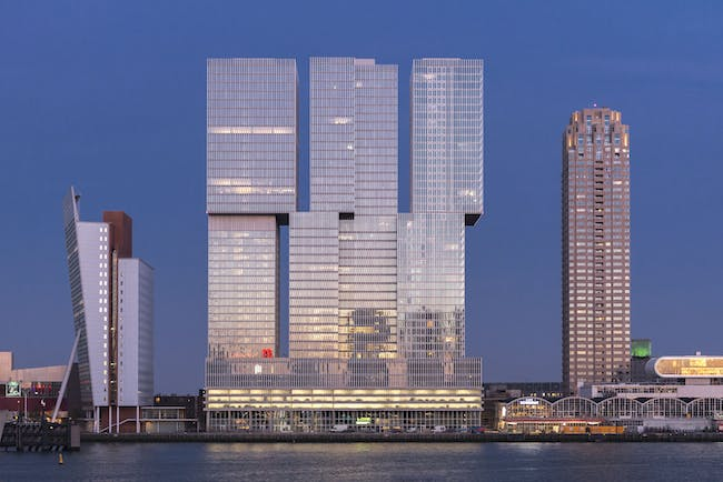 De Rotterdam. Photograph by Frans Parthesius, Courtesy of OMA.