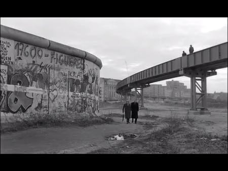 Screen shot from 'Wings of Desire', credit Julia Ingalls.