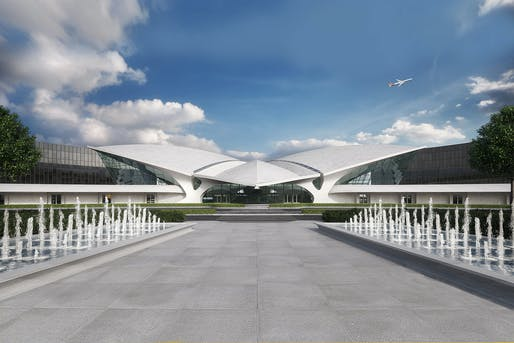 Oct 6: TWA Hotel, Original Architect: Eero Saarinen, Renovation Architects: Beyer Blinder Belle, Lubrano Ciavarra Architects, Photo: MCR Development.