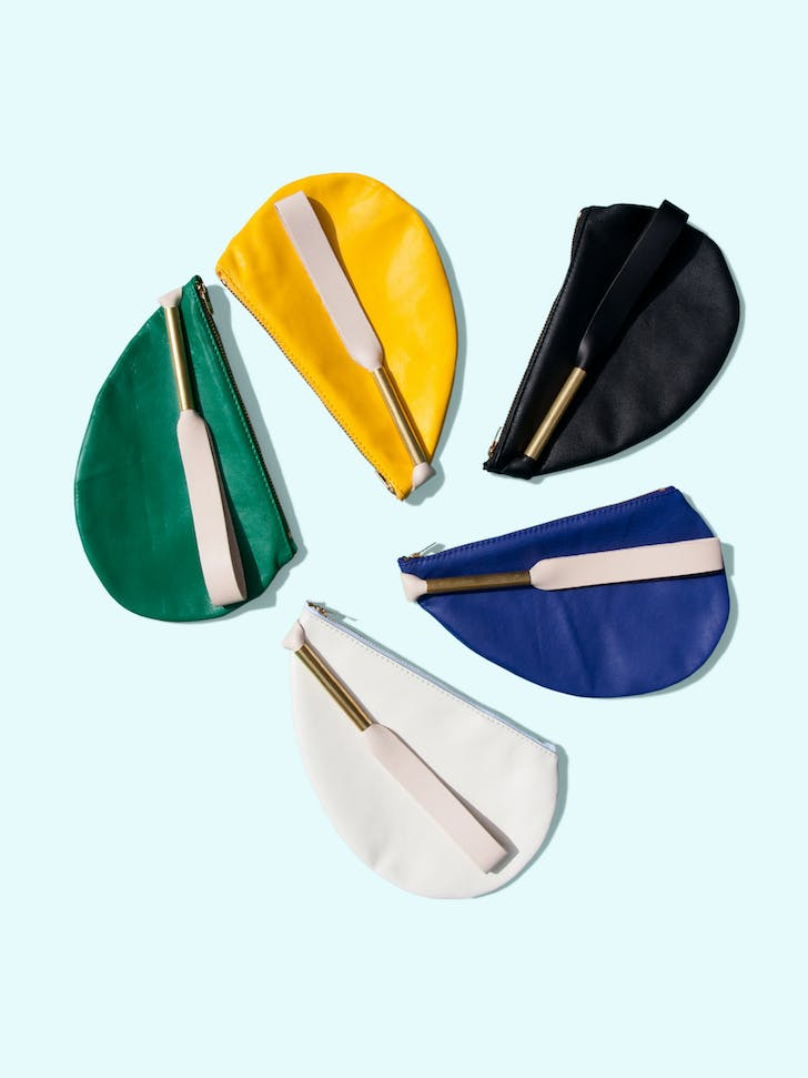 Otaat / Myers Collective oval pouch with strap. Image courtesy of Otaat / Myers Collective.