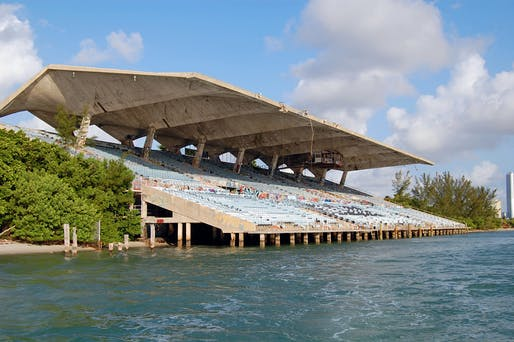 Miami Marine Stadium - Side view of Stadium. Credit: Rick Bravo