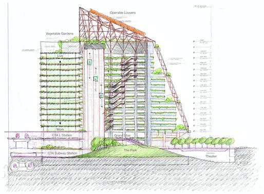'Offset - The Vertical Loop' proposal by Eastman Lee.
