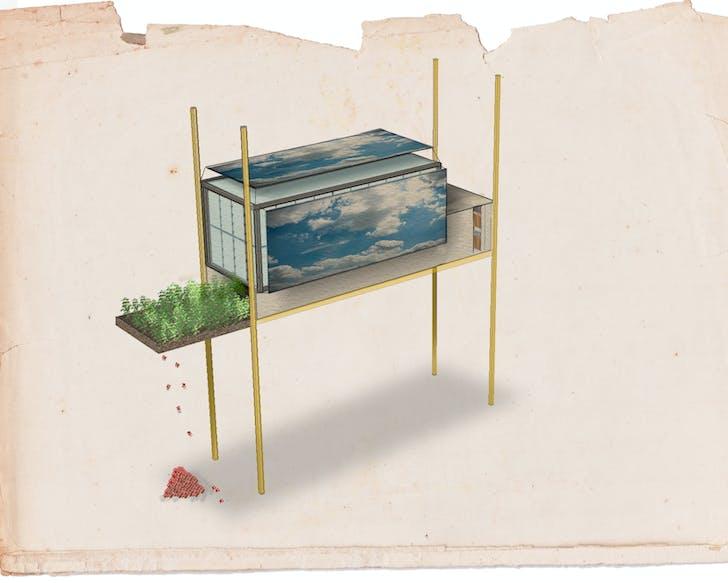 'Kitchen' from 'Interiors of Memories' by Joanne Choueiri. Image via Piet Zwart Institute.