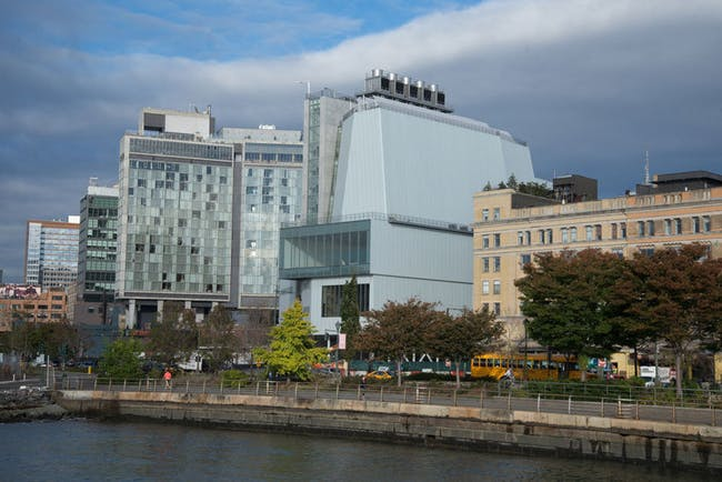 The new Piano-designed home of the Whitney Museum, as seen from across the Hudson River. Credit: Timothy Schenck via the Whitney Museum of American Art