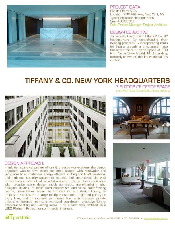 Tiffany & Co- NYC Headquarters | Archana Belur | Archinect