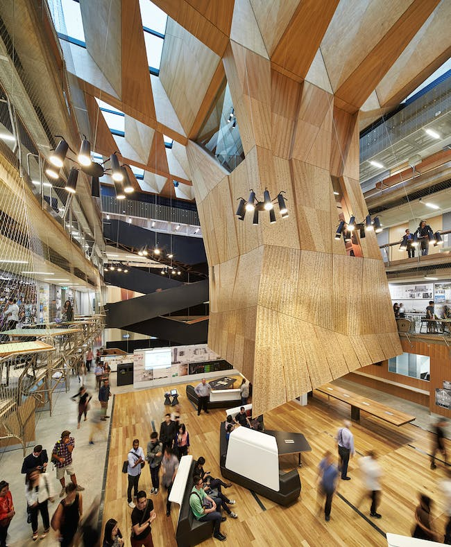 INSIDE World Festival of Interiors - Health & Education Project: Melbourne School of Design, The University of Melbourne, Australia by John Wardle Architects and NADAAA.