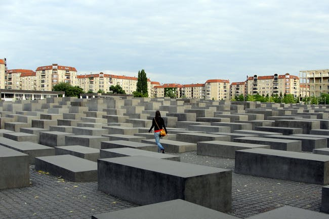 Memorial to the Murdered Jews of Europe in Berlin, via flickr user Márcio Cabral de Moura.