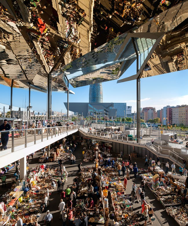 Inigo Bujedo Aguirre for Encants Flea Market in Barcelona, by B720 Arquitectura. Photo courtesy of Arcaid Images Architectural Photographer of Year 2014 award.