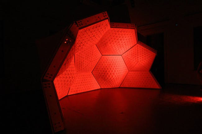 Cerebral Hut (interior) installation by Guvenc Ozel in collaboration with Alexander Karaivanov, Jona Hoier and Peter Innerhofer (Photo- Bengt Stiller)