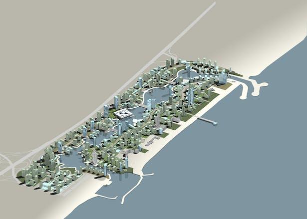 Dubai Marina Axometric