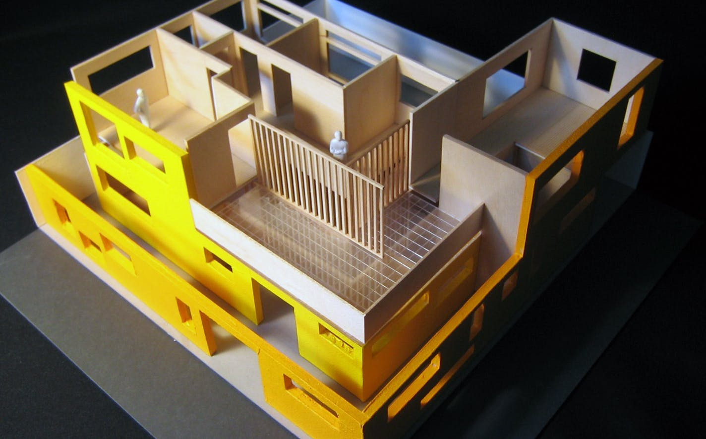 Courtyard house nick criscione archinect for Model house building materials