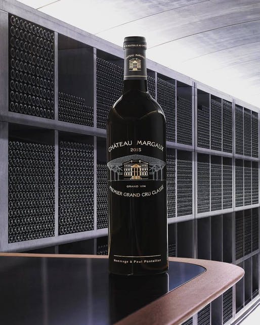 High-tech architecture for an ancient craft. Image via Château Margaux's Twitter.