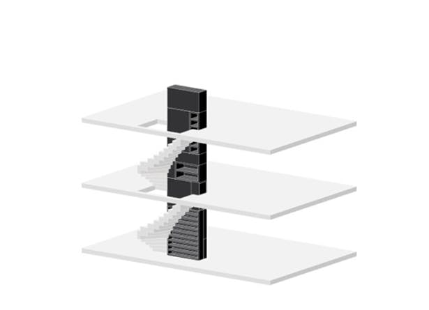 collecting storage space in staircase