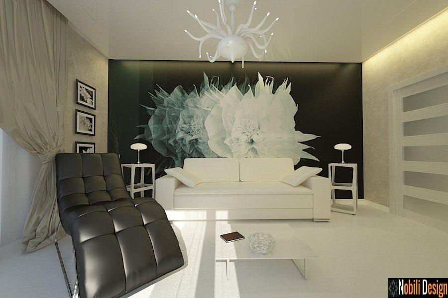 Amenajare living dormitor casa moderna cu etaj gabriela for Interioare case moderne